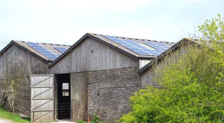 National trust Coleton Barton Farm – A 47.5kWp Solar PV array