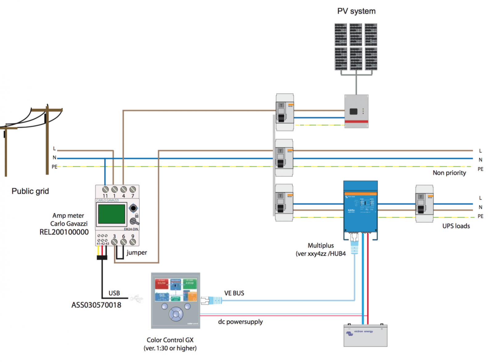 Pv System Wiring Diagram Will Be A Thing Dc Solar Victron Ess Rudge Energy Circuit
