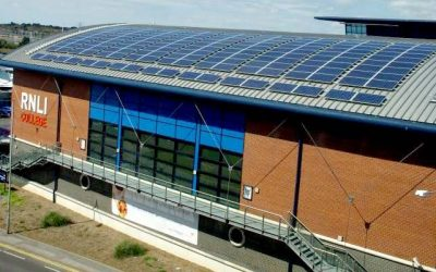RNLI Poole – A 44.1kWp Solar PV array